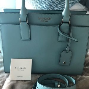Blue Medium Leather Satchel